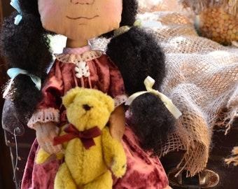 Art doll Cloth doll Textile doll collecting doll Fabric doll Soft doll Rag doll  Doll  Decoration