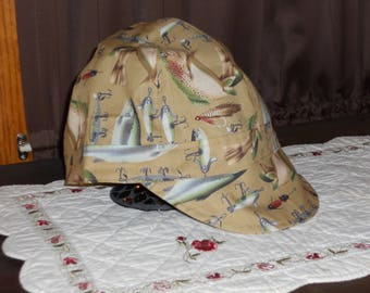 fitters cap, welders cap, cap, fishing, lure,