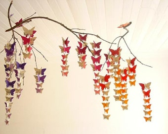 Butterfly Baby Mobile - Recycled Mobile - Eco-friendly - Re-purposed - Nursery decor - Whimsical Crib Mobile - Baby Girl - Baby Shower Gift