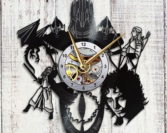 Lord of the Rings Clock Hobbit Vinyl Clock