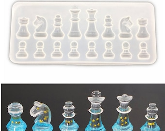 Chess resin silicone mold , epoxy resin mold for jewelry