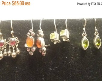 On Sale Four pairs of Sterling Silver Earrings