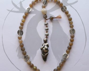 Ancestral Mother Prayer Beads with Labradorite