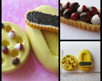 Berry Tart Mold Sweets Mould Resin Clay Fondant Miniature SweetsJewelry Charms Flexible Molds