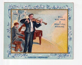tellerTobacco Card Turkish Trophies Fortune series You will have a Beautiful wedding