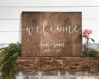 Custom Welcome Sign - Wood Sign