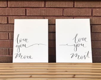 Love You More Canvas