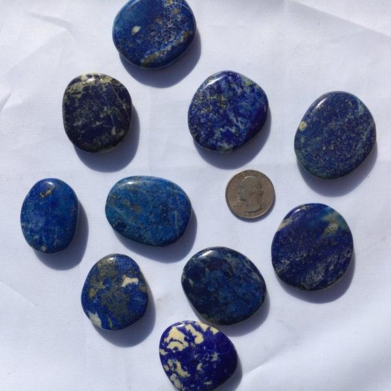 Beautiful Tumbled LAPIS LAZULI Healing Gemstone// Polished Lapis Lazuli/ Tumbled Stone/ Healing Crystals //Healing Tools// Third Eye