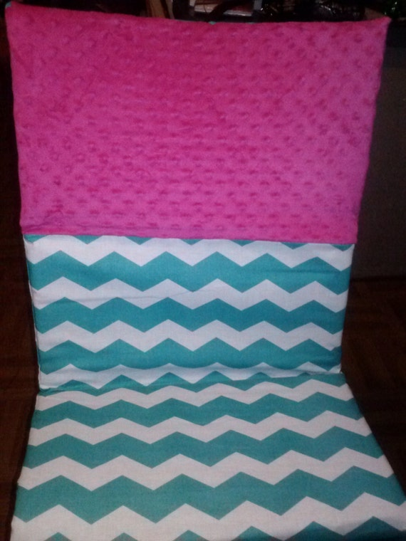 Teal And Hot Pink Chevron Kinder Mat Nap Mat Cover Back To