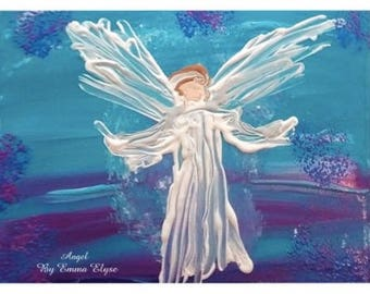 """11x17"""" art poster print - """"Angel for G.G."""" by Emma Elyse"""
