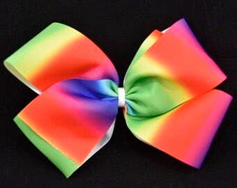 Boutique Rainbow Coloured Bow 8in / 20cm