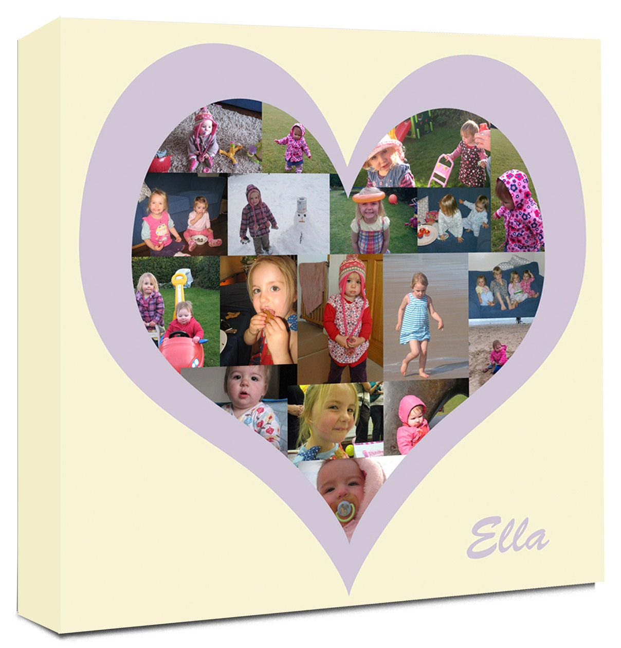 Heart Shaped Collage On Canvas Personalise Your Photos Into A