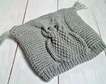 Knitting PATTERN-Owl Hat