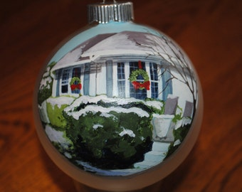 Sample of Hand Painted Home ornament done from Picture  - sold