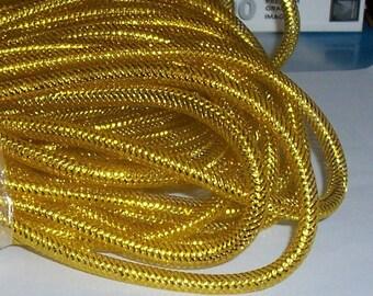Gold Nylon Mesh Tubing 9-10mm, 3ft