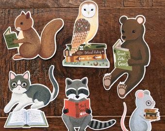 reading creatures sticker set