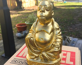 Howard Stern - Beetlejuice Zen Buddha - Fan Art Sculpture - Brilliant Gold