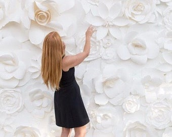 Paper Flower Backdrop, Wedding Decor, Paper Flower Wall