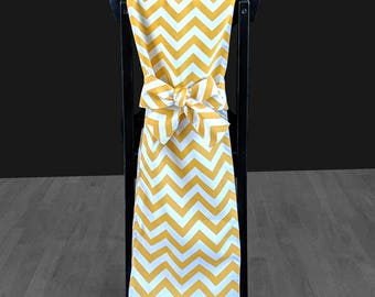 Gold Chevron, Party Chair Cover