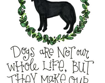 Dog quote print dog lover gift