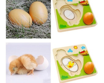 Multi Layer Chicken Wooden Puzzle