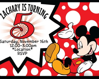 Mouse Kids Birthday Invitation