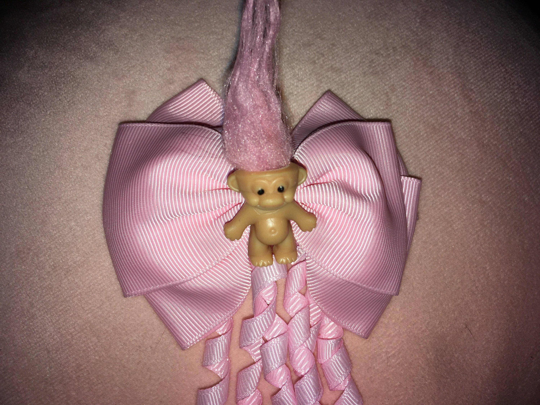 Cute pastel pink goth troll hair clip