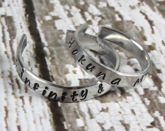 To Infinity and Beyond Ring - Stacking Ring - Stackable Ring - Adjustable Ring - Infinity Ring - Infinite Ring - Forever Ring - Silver Ring