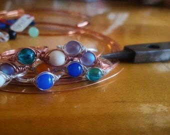 SALE Wire Wrapped Rings