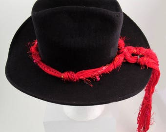 Western Hat Band, Cowgirl Hat Band, Cowboy Hat Band, Red Hat Band, Adjustable Hat Band, Hat Band, Hat Band Only (does not include hat)