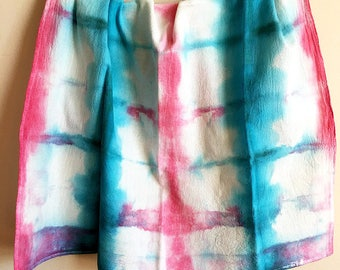 Hand Dyed Flour Sack Dish Towel - Tea Cloth - Shibori Tea Towel - Kitchen Towel - Hostess Gift - Housewarming Gift - Thank You Gift