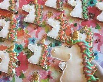 Magical Rainbow Unicorn Sugar Cookies
