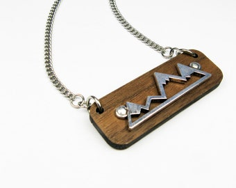 Mountain Range Necklace - Outdoorsy Gift for Adventurer or Hiking