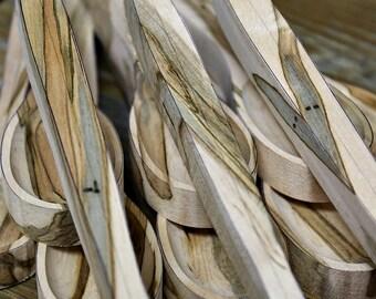 Wood Spoon Blanks, Carving Blanks, Spoon Carving Blanks, Ambrosia Maple Wood