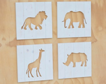 Wood Animal/Shape Silhouette Cutouts (Painted ANY Color)