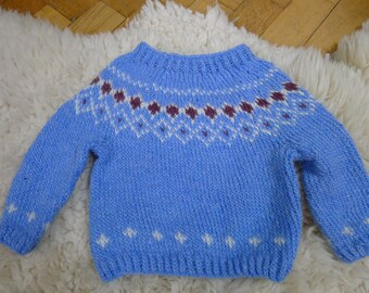 Iceblue Icelandic sweater for cool kids