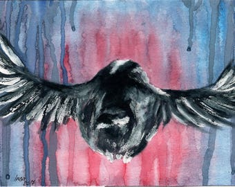 Bird 4 - watercolour fine art print