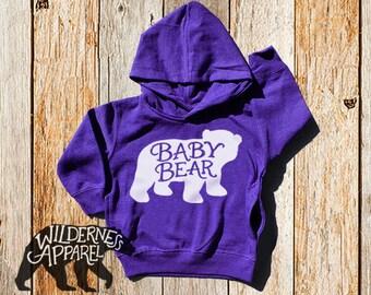 NEW ~ Baby Bear ~ Kids Toddler Hoody Sweatshirt - Available in Vintage Colors