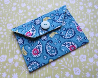 Gift Card Wallet - Fabric Case for Cards - Business Card Wallet - Gift Wallet for Jewellery - Jewelry Gift Bag