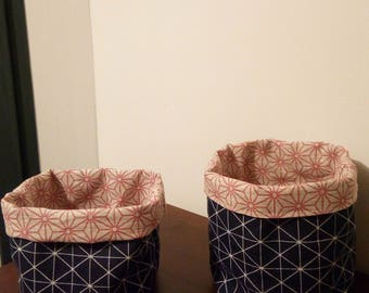 pair of baskets, Navy and pink graphics