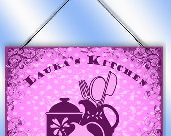 Personalized Kitchen Decorative Window Sun Catcher from Redeye Laserworks