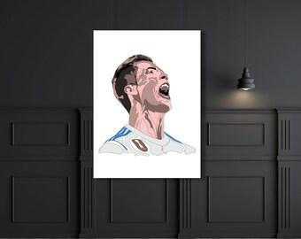 Superstar football Ronaldo real madrid, art, poster,design