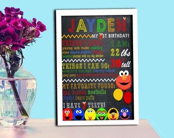 Sasame / Birthday Sign / Sasame Birthday Chalkboard Sign DIY / High Resolution Image / Digital Files