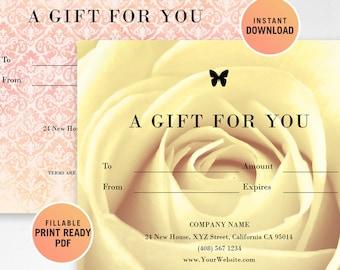 Restaurant Fillable Gift Certificate Template A Gift For You - Fillable gift certificate template