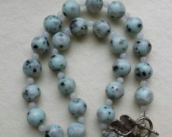 Sesame Jasper Gemstone Necklace