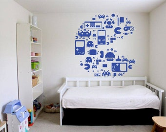 Wall Decal video game wall decals Controller Xbox Playstation Video Games gamer wall decal  us038