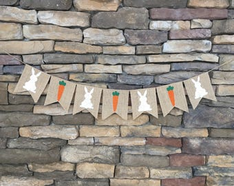 Easter Burlap Banner, Easter Garland, Easter Decor, Easter Decoration, Easter Photo Prop, Easter Bunting, Spring banner, Spring decor