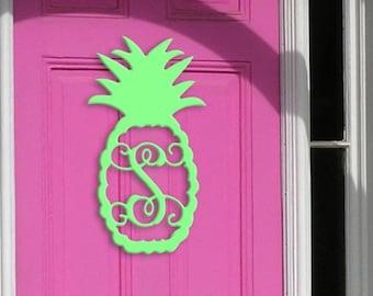 Pineapple Wooden Monogram