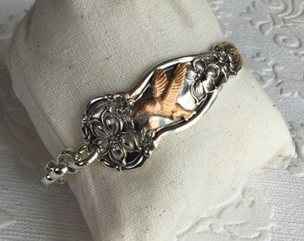 Humming Bird spoon handle bracelet