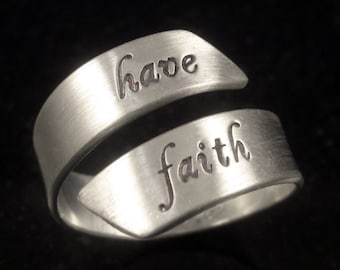 Adjustable Sterling Message Ring by donnaodesigns